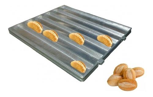 armário para pão francês 58x70cm + 10 assadeiras 6 ondas.
