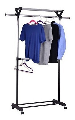 armario para ropa de 2 varillas, perchero para ropa, ajusta