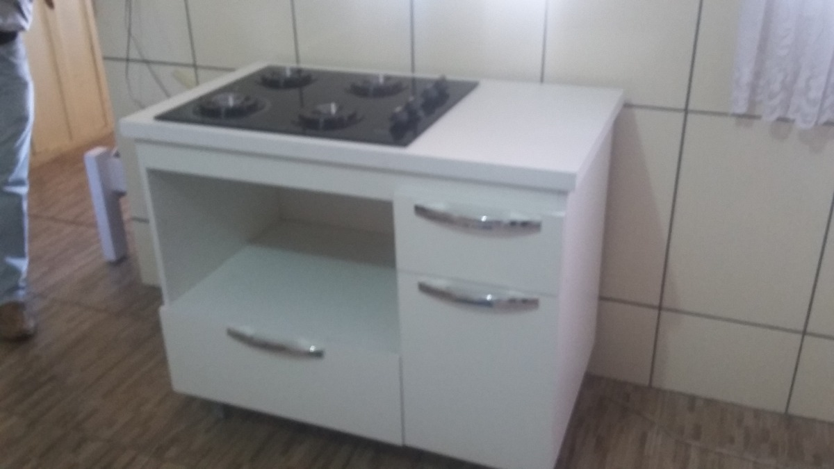 Armario p cooktop e para microondas com gavetas em mdf r - Armario para microondas ...