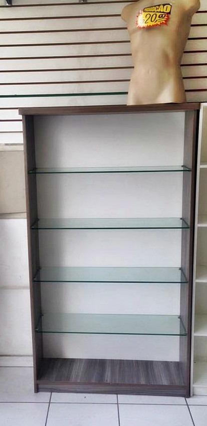 Armario Expositor Com Chave : Arm?rio prateleira para loja com expositor de vidro r