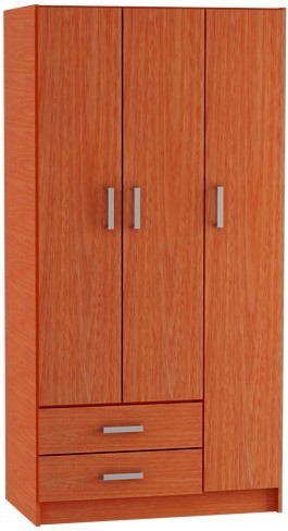 armario - ropero 3 puertas cajón y zapatera - placard