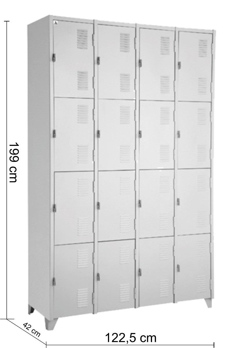 Artesanato Reciclar ~ Armário Roupeiro De Aço Vestiário Academia 16 Portas Locker R$ 620,90 em Mercado Livre