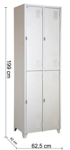 armário roupeiro de aço vestiário/academia 4 portas locker