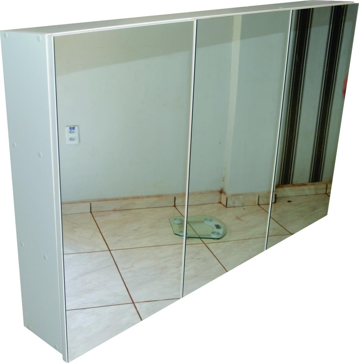 Adesivo Para Salao De Jogos ~ Armário Superior Para Banheiro Com Espelho 3 Portas R