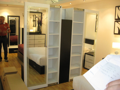 armario zapatero de puertas corredizas y espejo mod kery