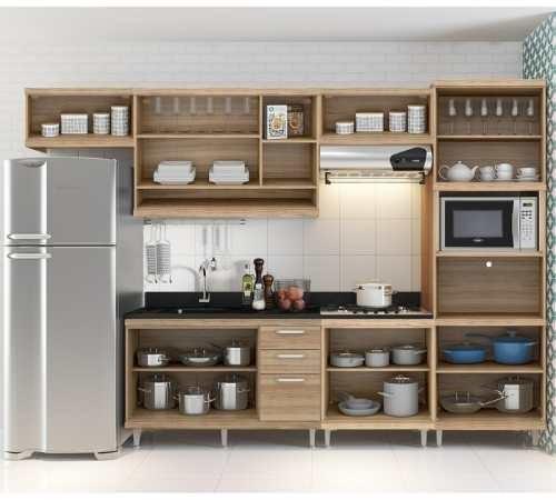 Arm rios de cozinha argila vermelho 6 pe as multim veis - Tecnicas de pintar muebles ...