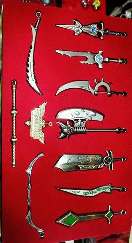 armas league of legends , individuales o caja completa