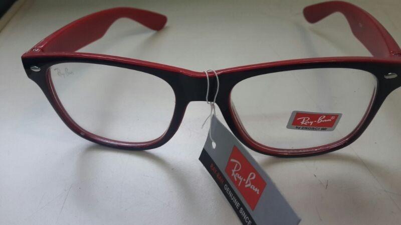 anteojos ray ban rojos