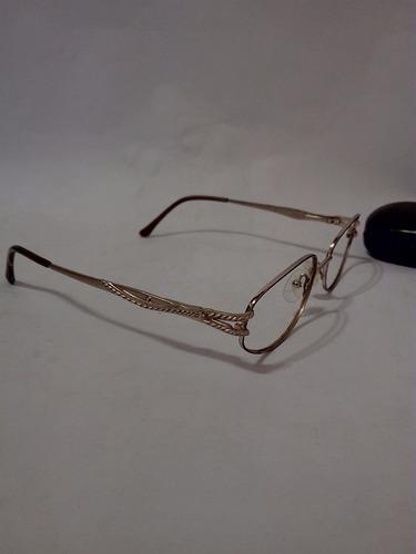 armazon de lentes ópticos joan collins  dorados originales