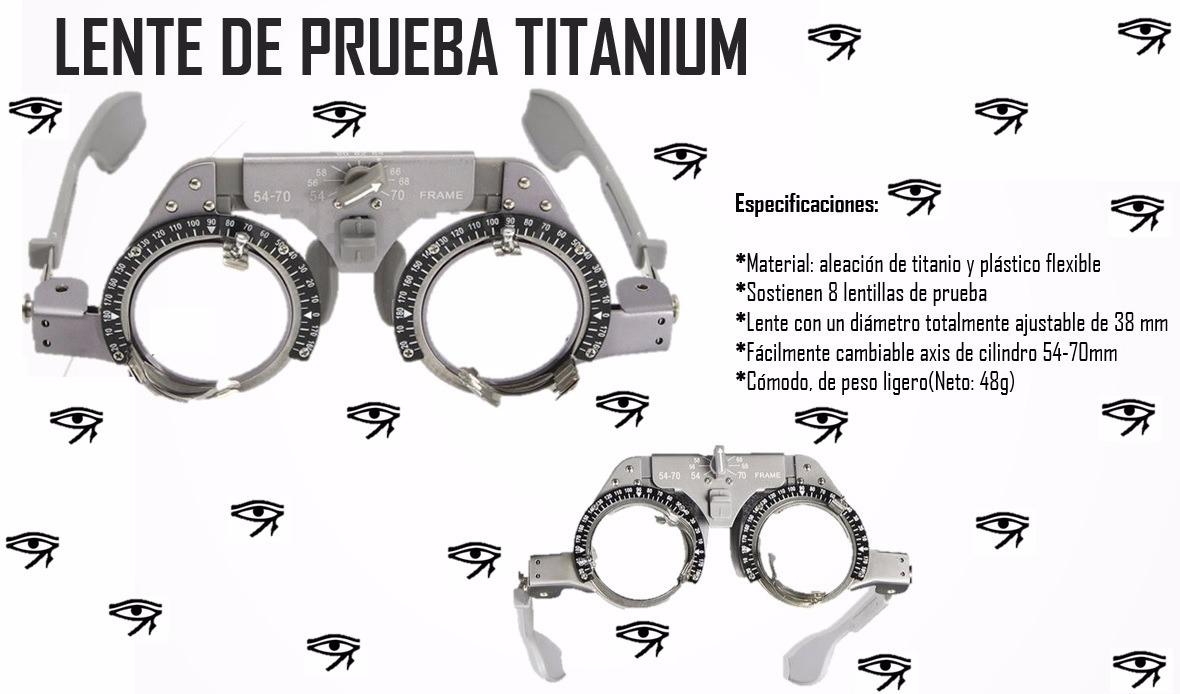 Armazon O Lente De Prueba De Titanium (ligero) -   1,950.00 en ... 4cc9f7a025