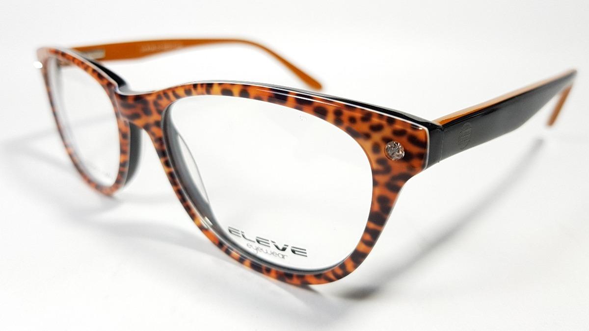 fotos oficiales c8407 95357 Armazones Anteojos Gafas Mujer Retro Leopardo Acetato Flex