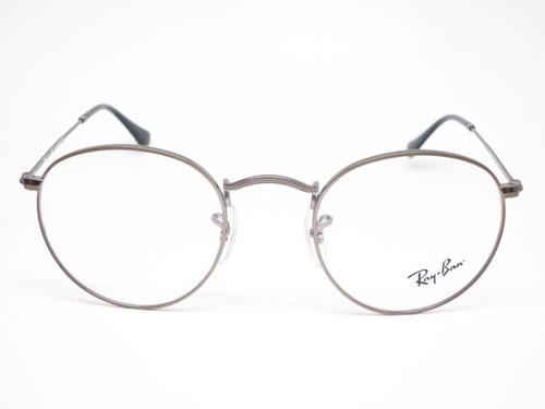 armazones de lectura ray ban round metal 3447 made in italy