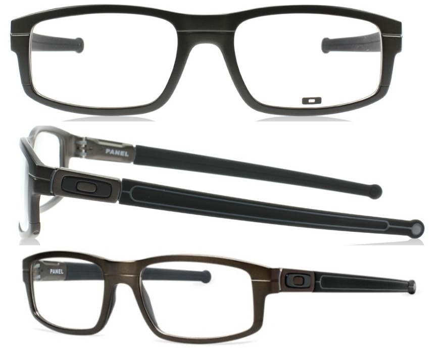 Armazones Oftalmicos Oakley Panel Ox 3153-0253 -negro Y Gris ...
