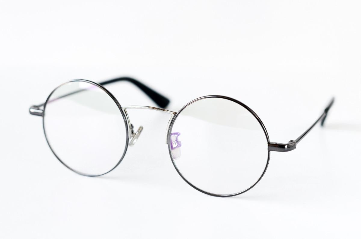 bb835f89f5 armazones para lentes ópticos redondos metálicos grises. Cargando zoom.