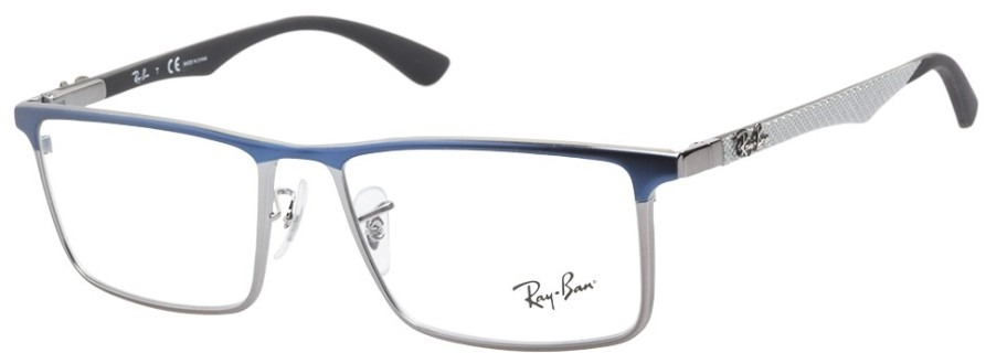 fb4ca14abcf Armazones Ray Ban Tech Ray Rb 8412 2502 Fibra Silver Blue ...