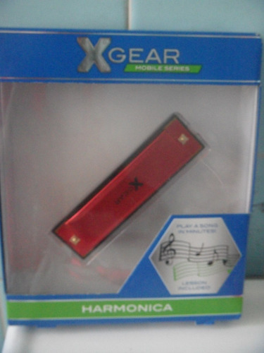 armonica color rojo 10 hoyos xgear  vmj