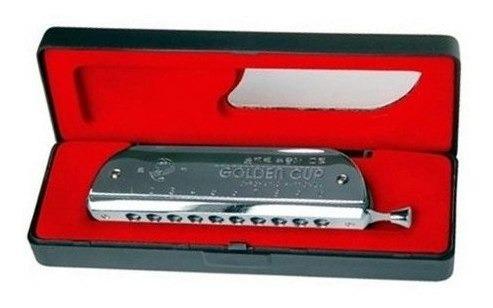armonica cromatica parquer 40 voces metalica con estuche