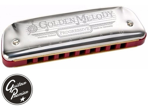 armonica hohner golden melody profesional estuche lecciones