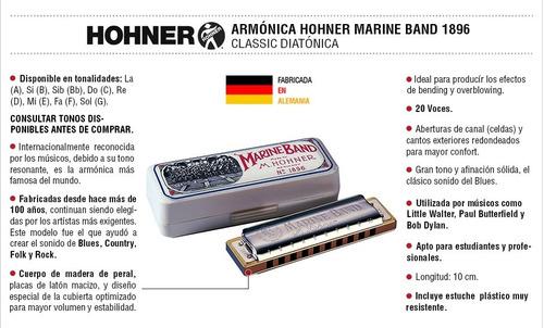 armonica hohner marine band classic 1896 blusera alemana
