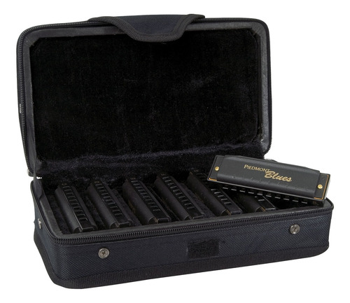 armonica hohner piedmont blues set diatonica c/ estuche