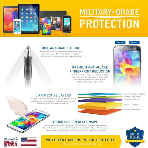 armorsuit - moto g plus protector de pantalla + envio gratis