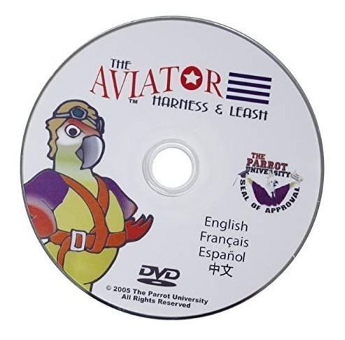 El Aviador Loro Arnés /& Correa-Medio-Plata