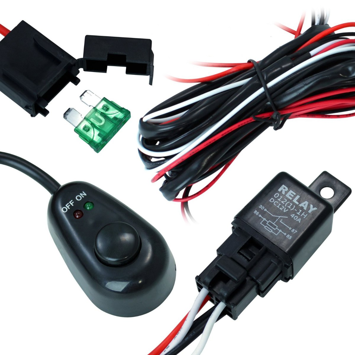 Arnes Cable Switch Relay Para Faros Barras Led Jeep 4x4