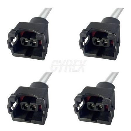 4 X Enchufe Hembra Inyector automático Conectores de inyección de combustible-Toyota Con Cable