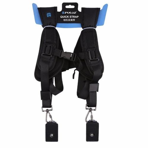 arnés correa almohadilla doble hombro para camaras digitales