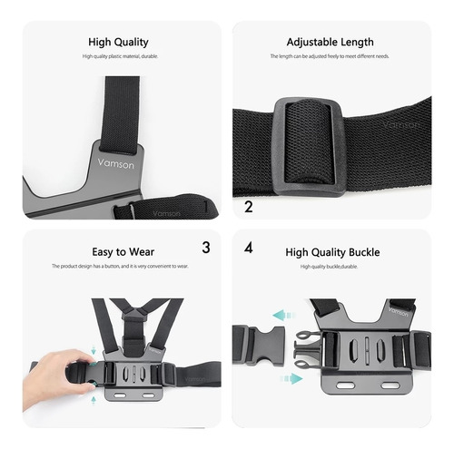 arnes de pecho para gopro correa chest mount harness