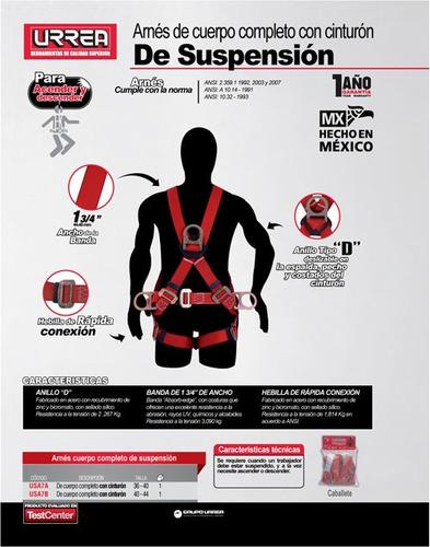 arnés de suspensión con cinturón talla 36-40 urrea