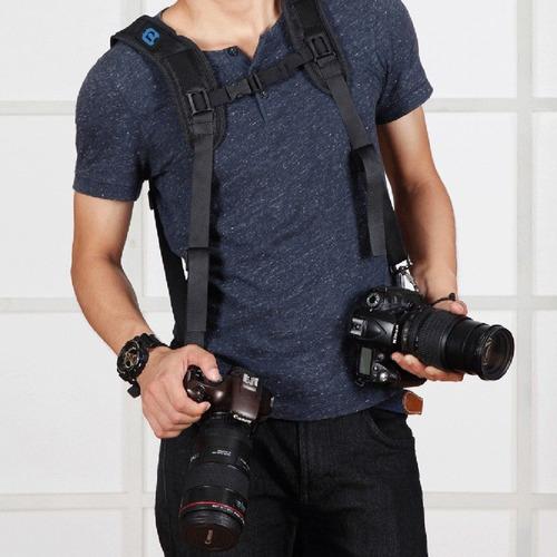arnés para camaras - filmadora con almohadilla doble hombro