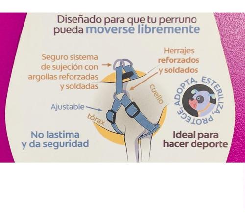 arnés perro mediano ajustable para entrenamiento de nylon