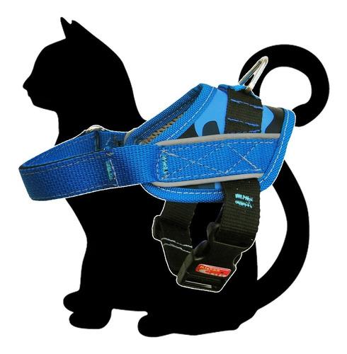 arnes pretal acolchado para gatos con banda reflectiva