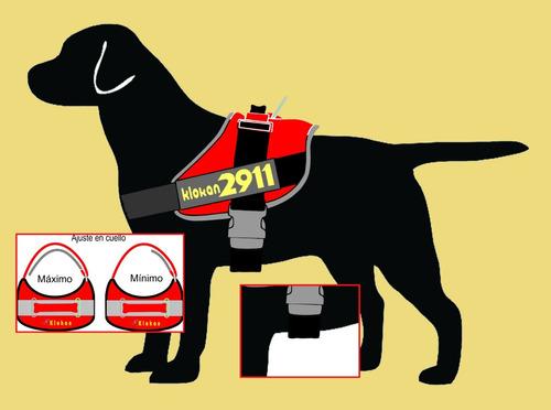 arnes pretal acolchado para perros con banda reflectiva