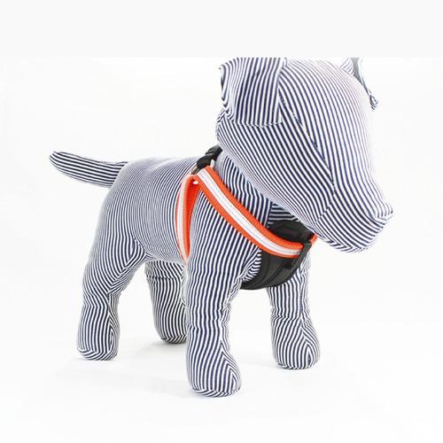 arnés reflejante perro mediano - ajustable de nylon