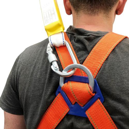 arneses 2x seguridad altura y cabo de vida mosquetones