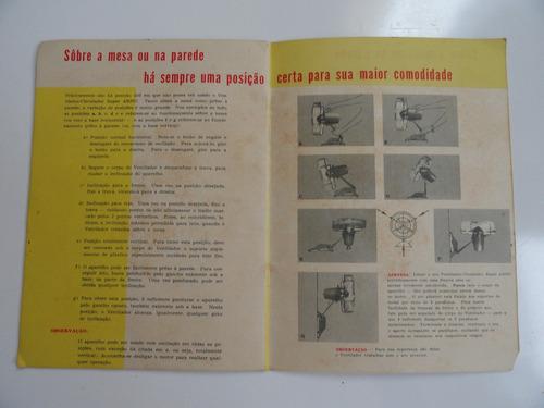 arno- aspirador, enceradeira, ventilador manual de instrução