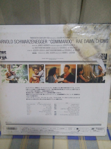 arnold schwarzenegger - commando laserdisc japones