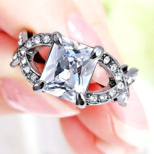 aro 16 anel feminino pedra cristal diamante titânio 327