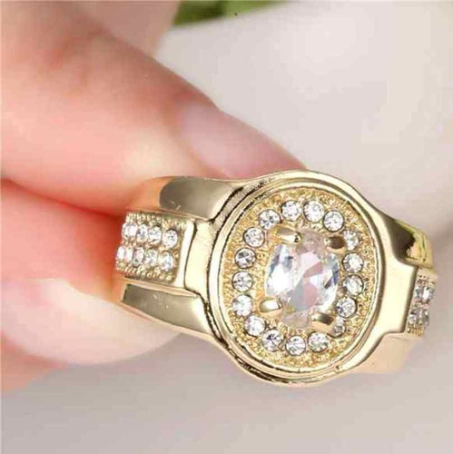 aro 17 anel pedra lapidada quartzo diamante banho ouro 93 p