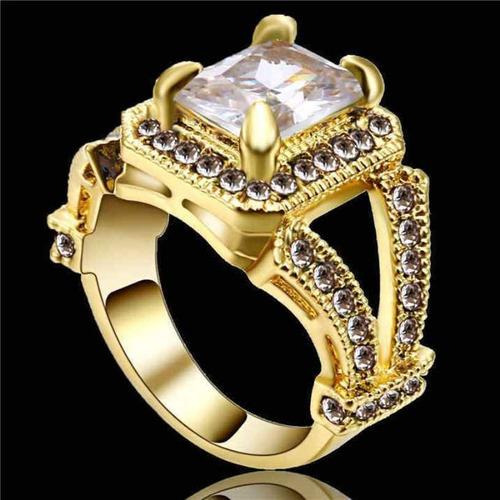 aro 18 anel feminino solitário qtzo diamante casamento 271 p