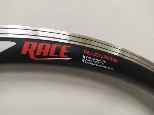 aro 700c o 29 doble pared 32h aluminio bicicleta mtb v brake