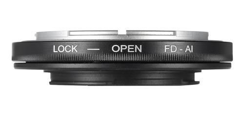 aro adaptador de lente fd canon para marcos nikon ai f