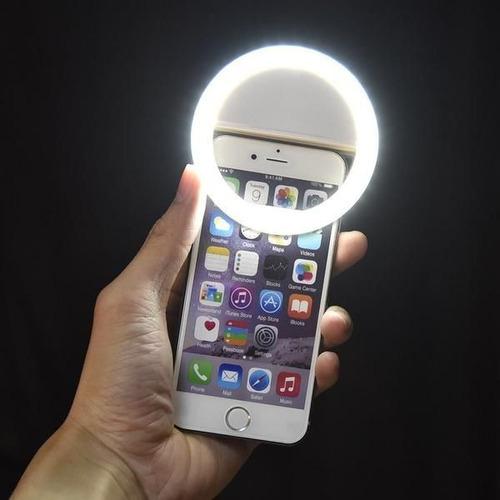 aro anillo de luz lámpara led para selfies iphone y android