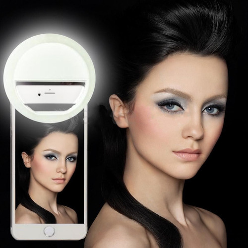 aro anillo de luz lámpara led para selfies iphone y android