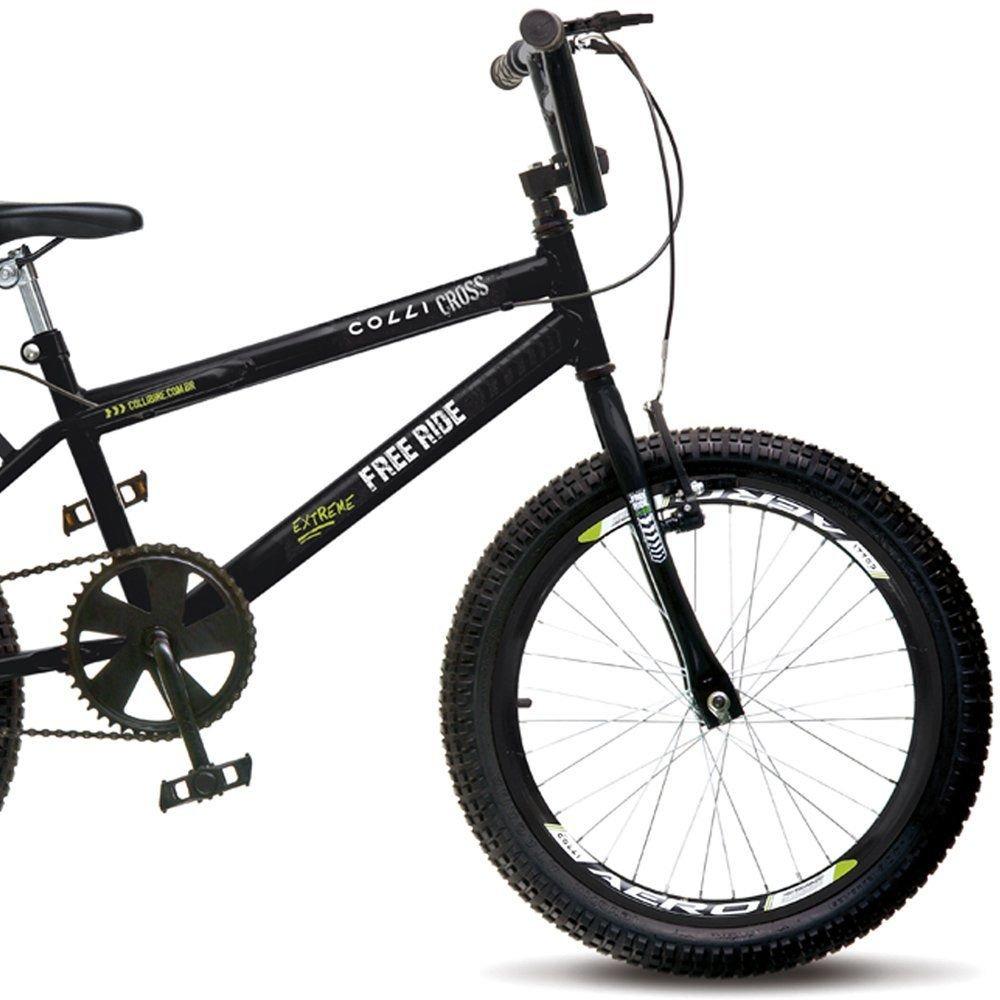 91118affb0215 Bicicleta Infantil Colli Bike Cross Free Ride Aro 20 Freio VBrake