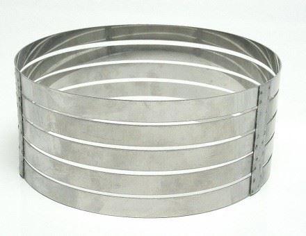 aro cortador de bolo redondo em camadas fatias 20cm aço inox
