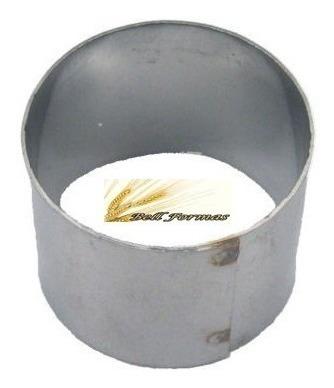 aro cortador redondo 10x10cm alto para bolo  em aço inox