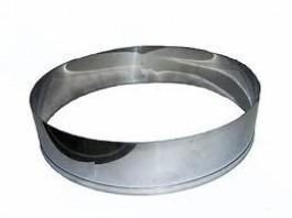 aro cortador redondo 25x8cm alto para bolo  em aço inox